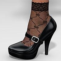 Platform Mary Jane & Socks