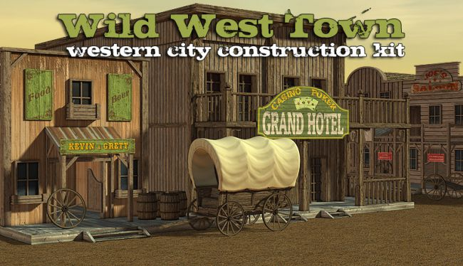 Wild West Town Props Scenes And Architecture For Poser