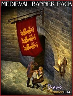 Medieval Banner Pack and Vignette Scene