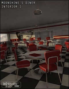 Moonshine's Diner Interior I