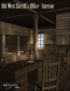 Old West Sheriffs Office Interior