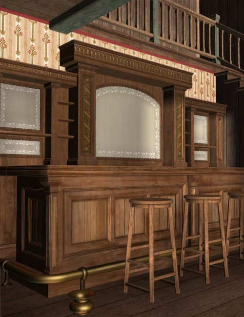 The Old West Saloon Interior Environments And Props For