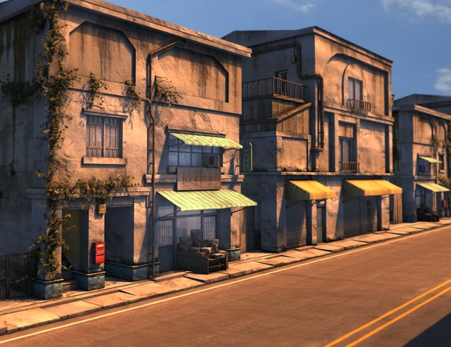 Side Street Environments And Props For Daz Studio And Poser