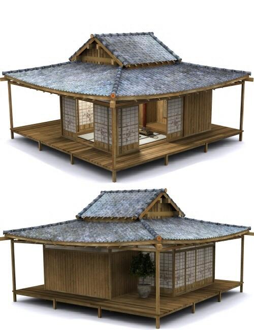 Japanese tea garden tea house bundle environments and for Japanese style garden house