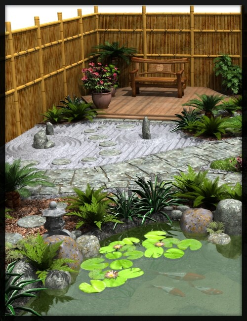 Japanese tea garden tea house bundle environments and for Japanese house garden