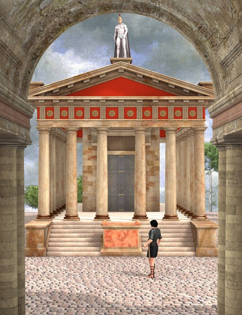 Temple Of Mars Environments And Props For Daz Studio And
