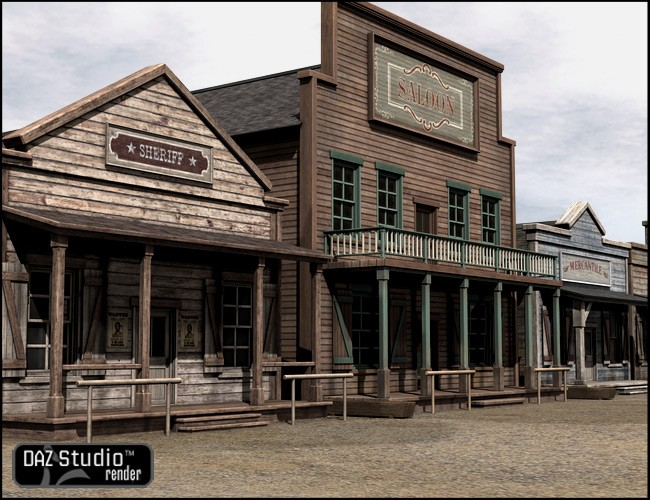 Old West Sheriffs Office   Environments and Props for Daz ...