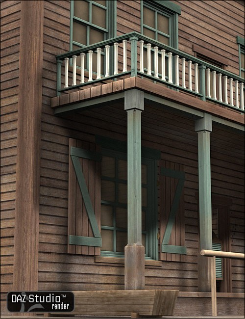 Old West Saloon Environments And Props For Daz Studio