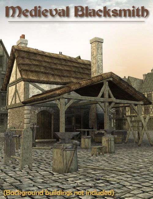 Medieval Blacksmith Environments And Props For Daz