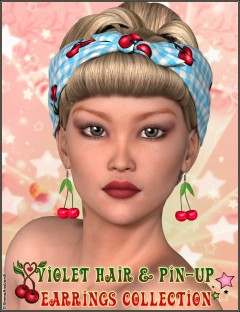 Violet Hair and Pin-Up Earrings Collection