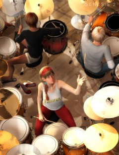 Rama Drum Solo Poses