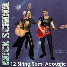 Rock School 12 String Semi Acoustic Guitar