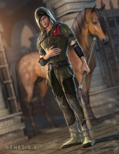Sherwood Hunter Outfit for Genesis 2 Male(s)