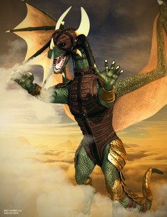 Mec4D Dragonesia Armor Suit for DAZ Dragon 3