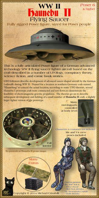 Haunebu-II WW2 Flying Saucer
