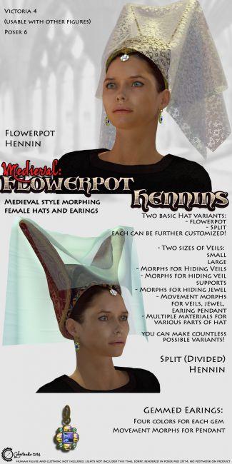 Medieval: Flowerpot Hennins
