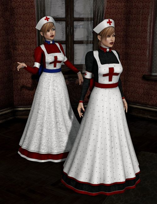 8931a36db64 Victorian Nurse Textures | Clothing Accessories for Daz Studio and Poser