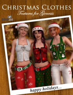 Christmas Hat and Clothes Textures For Genesis