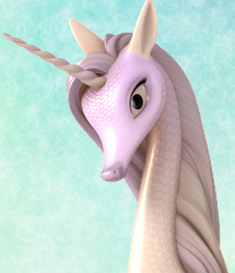 Fairytale Regal Mane and Tail Swirl Chapter 2 for the Unicorn for DAZ Studio