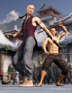 Serpentine Monk Outfit for Genesis 2 Male(s)