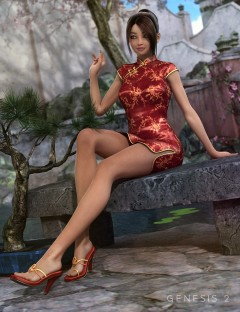 Xiao Mei's Finery HD for Aiko 6 and Genesis 2 Female(s)
