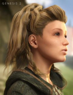 Viking Hair for Genesis 1 and 2 Female(s)