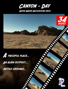 Movie Maker Canyon Day Background Pack