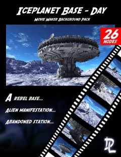Movie Maker Iceplanet Base Day Background Pack