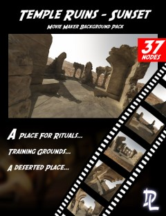 Movie Maker Temple Ruins Sunset Background Pack