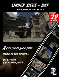 Movie Maker Under Siege Day Background Pack