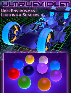UltrueViolet Light and Glowing Shaders for DAZ Studio