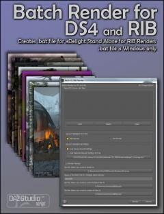 Batch Render for DAZ Studio 4 and RIB