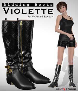 Riding Boots Violette