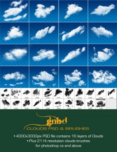 GNBD Clouds PSD and Brushes