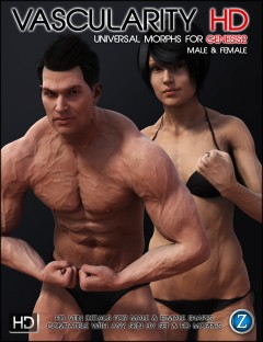 Vascularity HD for Genesis 2 Female(s) and Genesis 2 Male(s)