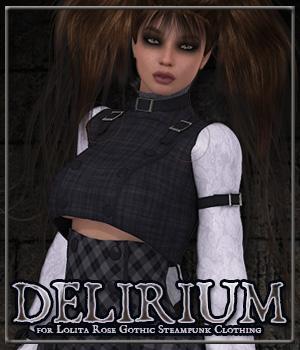 DELIRIUM for Lolita Rose Gothic Steampunk Clothing