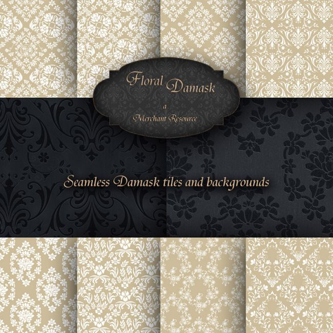 Merchant Resource - Floral Damask