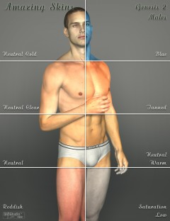 Amazing Skins For Genesis 2 Male(s)