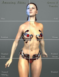 Amazing Skins For Genesis 2 Female(s)