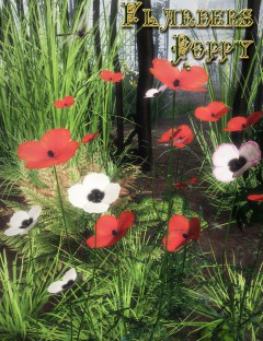 Flanders Poppy (Static TPF Plant for DS and Poser)