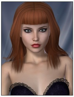 Angie Hair for Genesis 2 Female(s) and Victoria 4