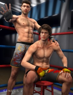 MMA Shorts and Gloves Textures