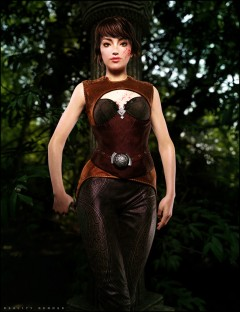 Leather Fantasy Armor for Genesis 2 Female(s)
