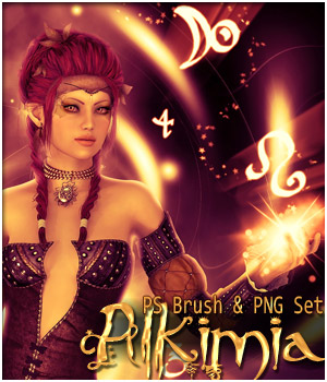 Alkimia- PS Brushes and PNG set
