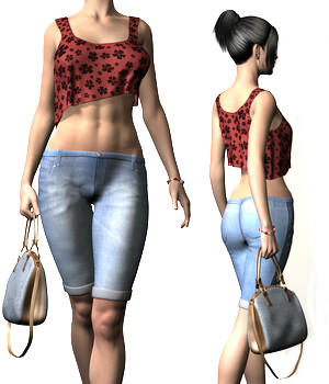Casual Monday Outfit for Genesis 2 Female(s)