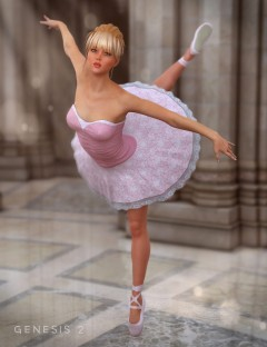 Ballerina Outfit for Genesis 2 Female(s)
