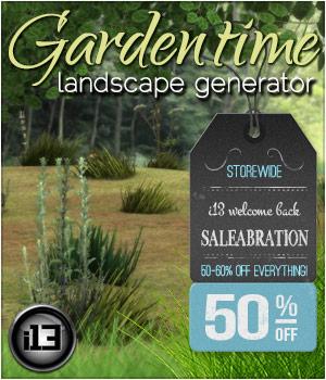 i13 f68 GARDENTIME Landscape Generator for Poser