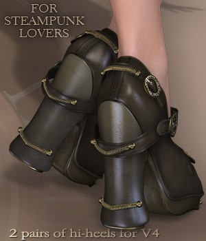 Steam-Punk It Heels V4