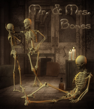 Mr. & Mrs. Bones For Poser Skeleton