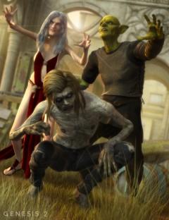 Ghoul Poses for Creature Creator Genesis 2